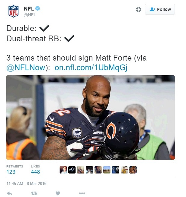 Green Bay Packers Matt Forte