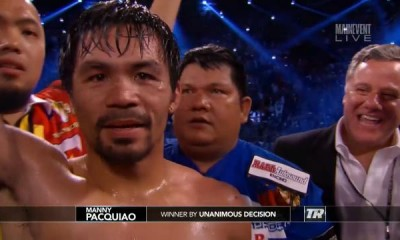 Manny Pacquiao Retires After Beating Timothy Bradley