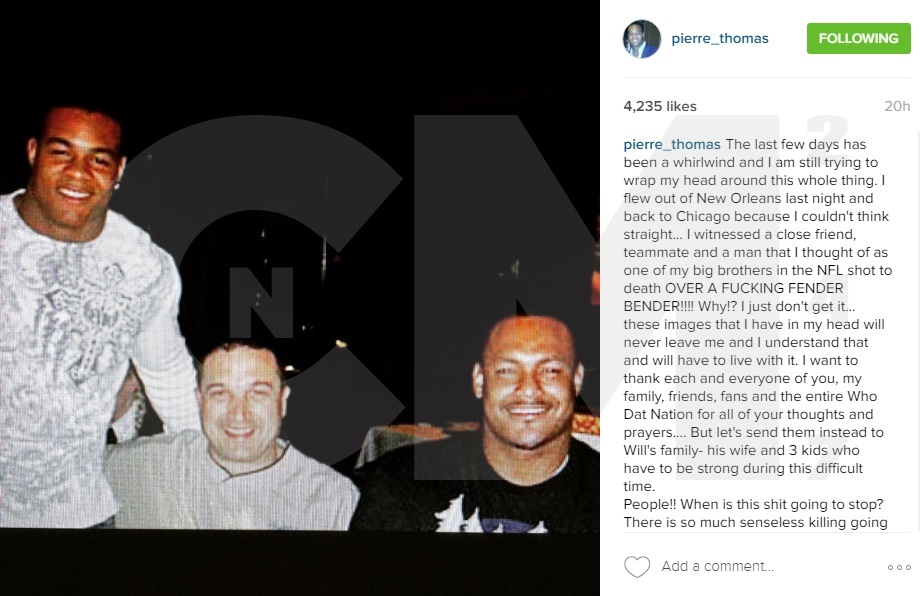 Pierre Thomas Forever Scarred After Will Smith's Murder in New Orleans