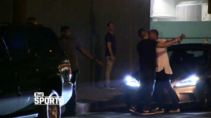 Another night and another fight outside a gay club, but this time its former NFL player Michael Sam who got in a heated Street Fight
