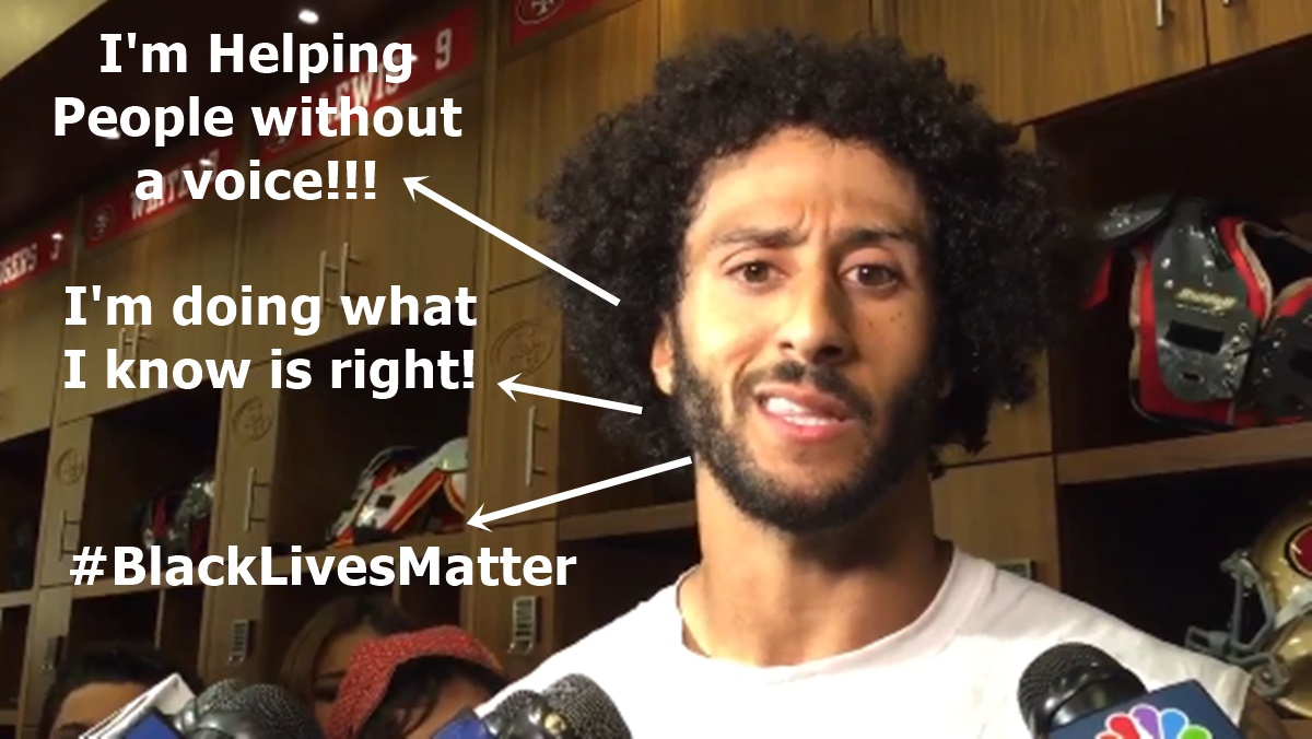 Colin Kaepernick Stands Up For #BlackLivesMatter
