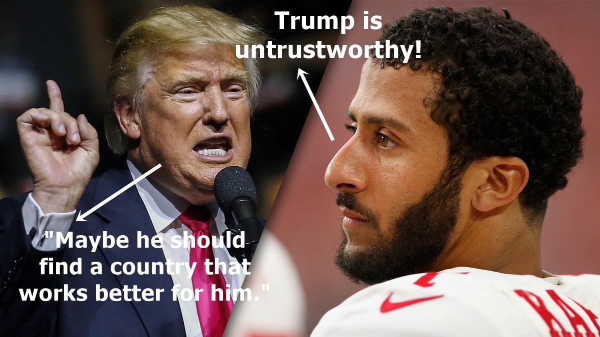 BITES: Donald Trump on Kaepernick + Taye Diggs Outraged by Rodney Harrison