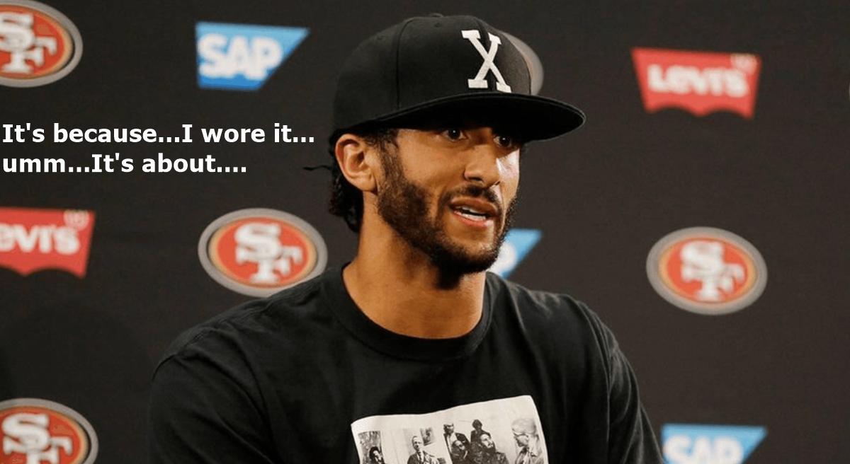 Colin Kaepernick Backed Into a Corner Over Malcolm X + Fidel Castro Shirt