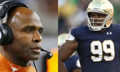 Charlie Strong Officially Fired; Notre Dame DL kicks USC RB in Head
