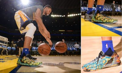 Stephen Curry Honors Oakland Fire Victims; Auctions Custom Sneakers