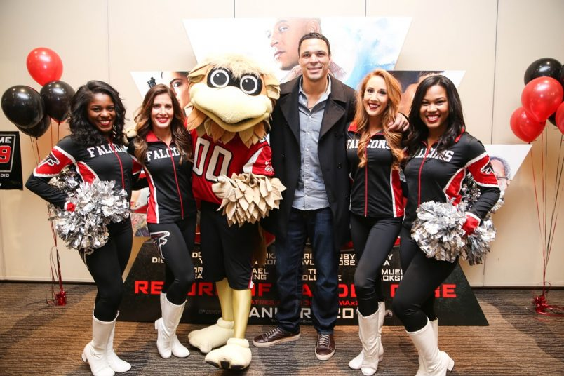 Tony Gonzalez + Atlanta Falcon Cheerleaders Pop up at xXx Screening