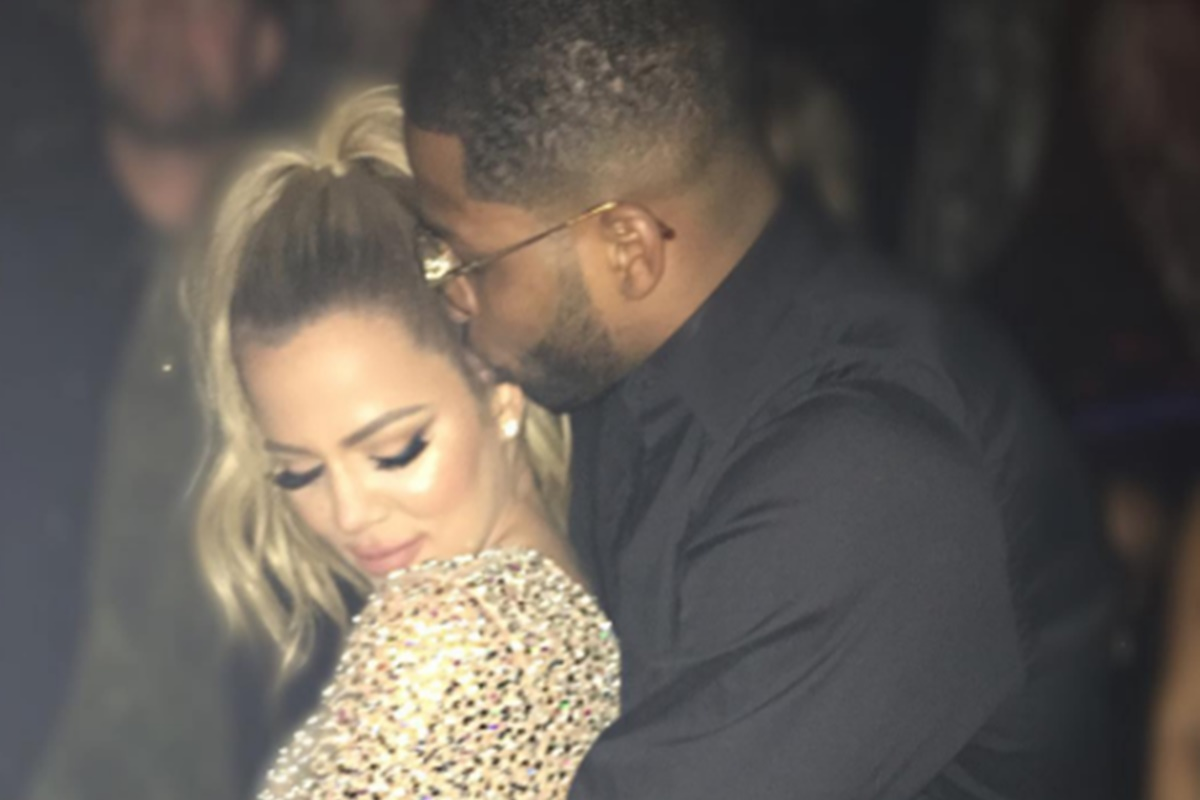 Tristan Thompson Khloe Kardashian kissing