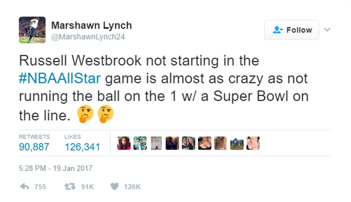 Marshawn Lynch Weighs In On Russell Westbrook