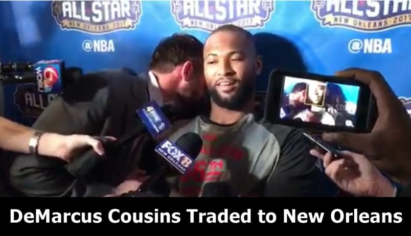 DeMarcus Cousins Gets Unknowningly Traded at All-Star Postgame Interview