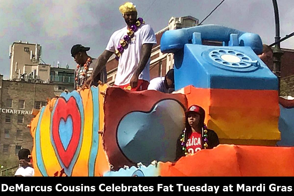 DeMarcus Cousins + Henny + Underwear = Mardi Gras Party