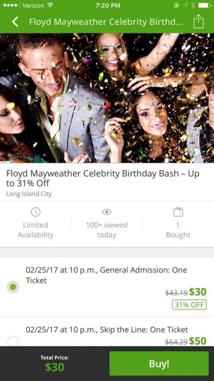 Floyd Mayweather Jr Cashing In With Groupon