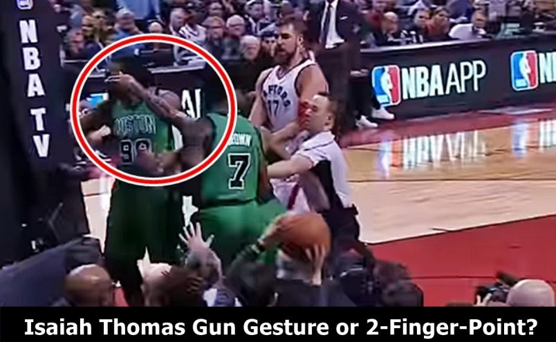 Isaiah Thomas Gun Gesture at DeMarre Carroll Questioned