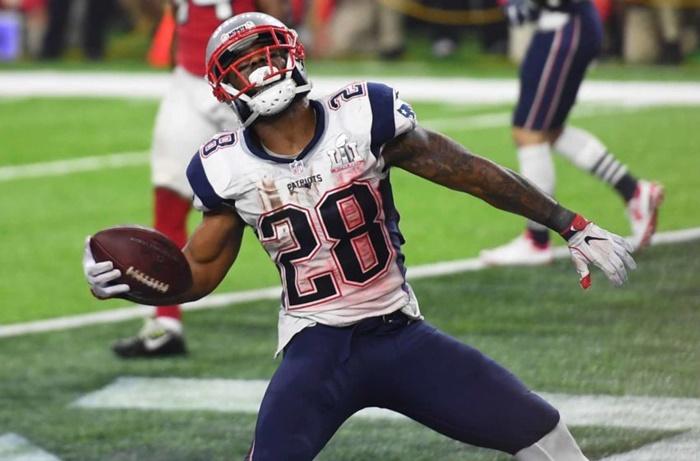 Patriots James White Game-Winning Football Missing