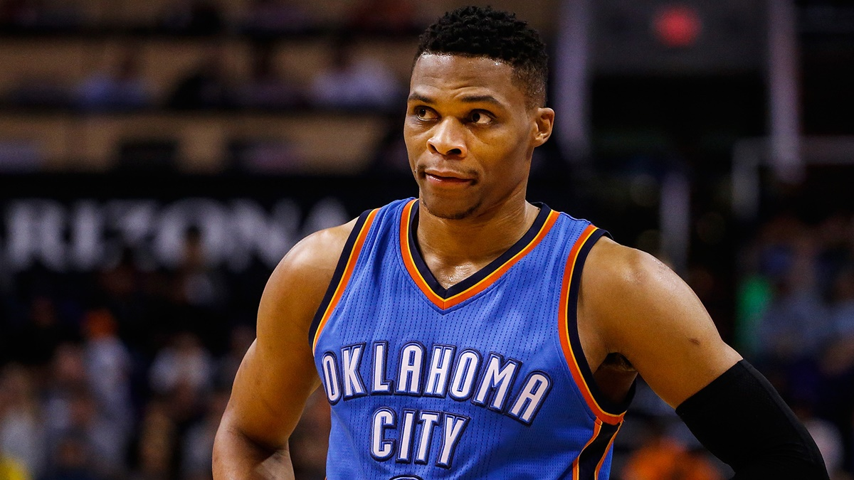 Russell Westbrook Laughs Off Press About Kevin Durant Questions