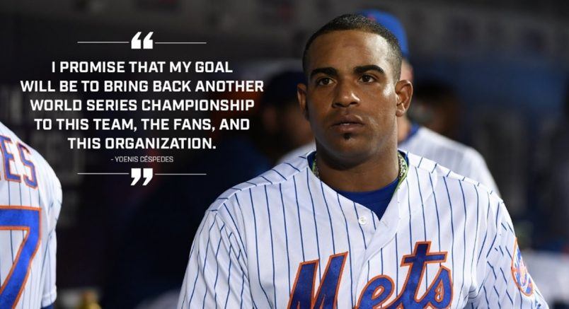 Yoenis Cespedes Embracing The Calm and Tranquility 4-Year Contract