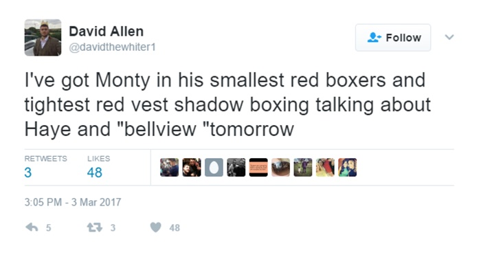 Boxer David Allen Is Packing Major Man Meat
