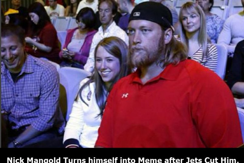 Jets Cut Nick Mangold, So He Makes Meme