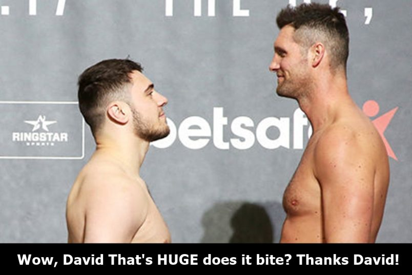 Boxer David Allen Is Packing Major Man Meat