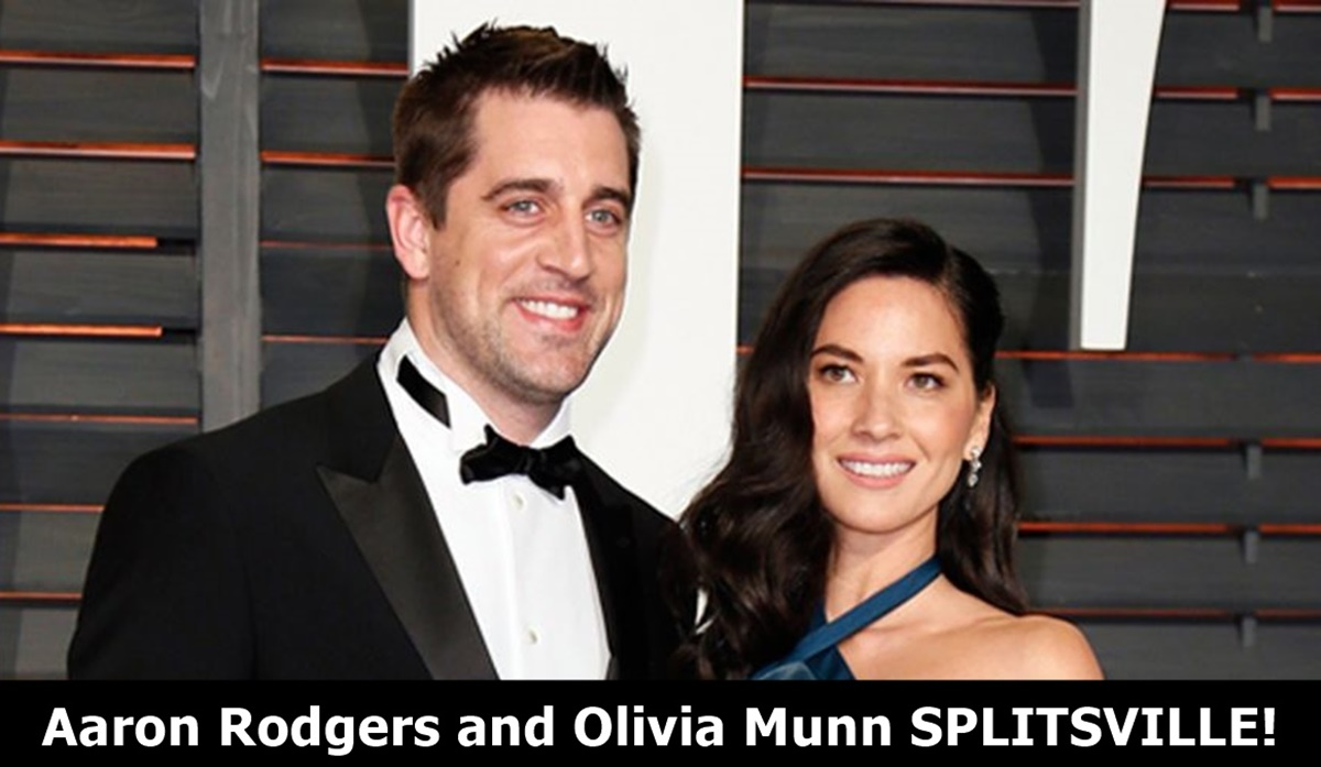 Aaron Rodgers and Olivia Munn SPLIT