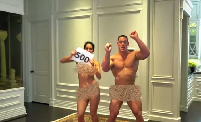 John Cena and Nikki Bella Strip for 500K