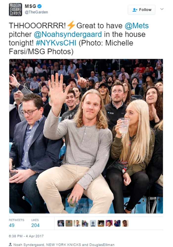 Mets Noah Syndergaard Caught Swapping Spit with BU Soccer Player