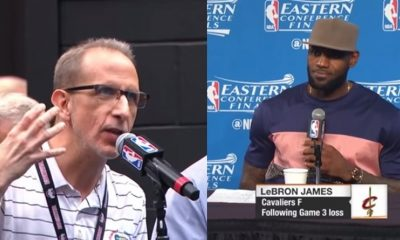 LeBron James LASHES Out at Reporter