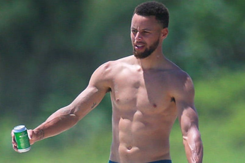 Steph Curry Shirtless Fun in the Sun; Haters Weigh in
