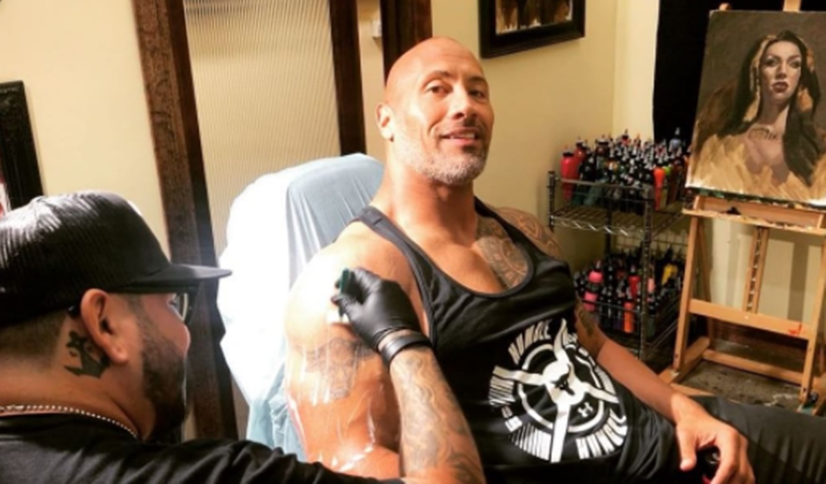 "Dwayne Johnson Announces ""Evolution of the Bull"" Tattoo"