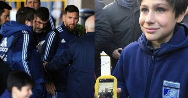 Lionel Messi SAVES Kid from Security Guard