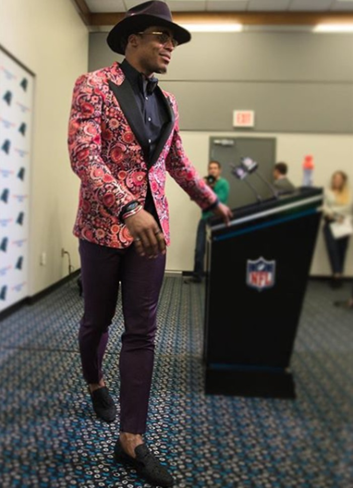 Cam Newton Thanks Armed Forces + Talks Being Jinxed
