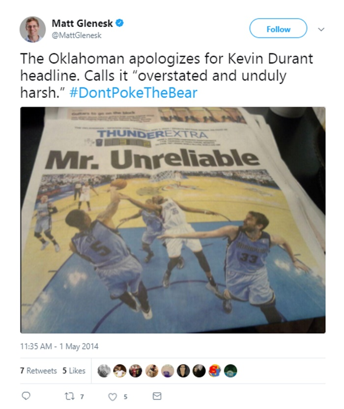 """Kevin Durant to OKC Fans Turning Their Backs: """"I've Got Real Feelings"""""""