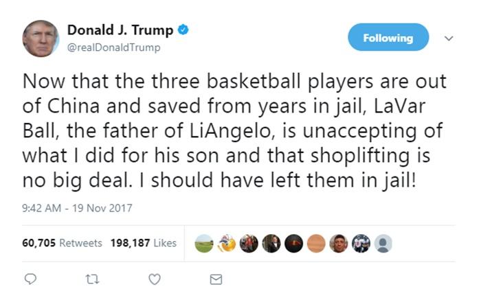 LaVar Ball Denies President 45 Any Gratitude Getting LiAngelo Ball Home