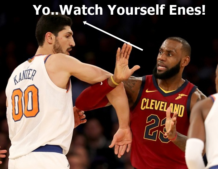 Enes Kanter LeBron James Face Off...Fight, Fight, Fight!