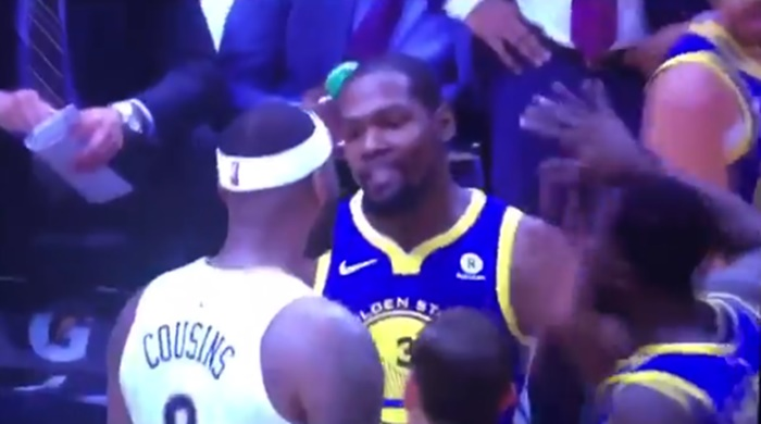 DeMarcus Cousins Held Back From Attacking Kevin Durant