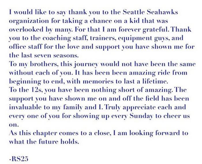 Richard Sherman Thanks Seahawks for Opportunity