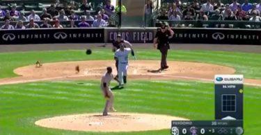 Rockies Nolan Arenado Padres Pitcher Luis Perdomo Brawl