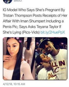 Iman Shumpert Dragged Into Tristan Thompson Scandal by THOT