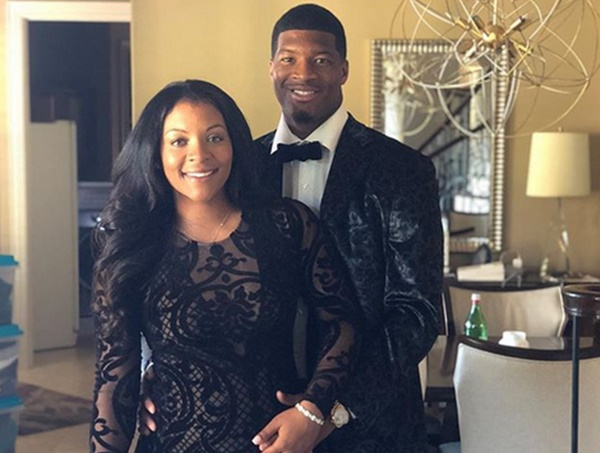 Buccaneers Jameis Winston Celebrates Breion Allen Baby Bump and 5th year Option