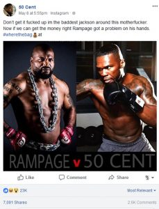 Rampage Jackson Rips 50 Cent A New One