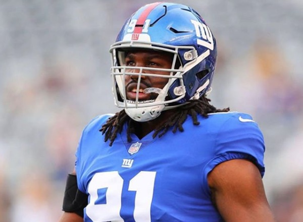 New York Giants DE Avery Moss Victim of Photo Leak