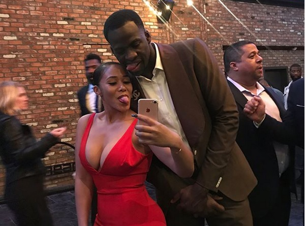 Draymond Green Hazel Renee Caught Tongues Out
