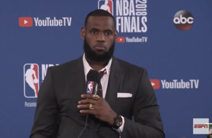 LeBron James Wasn't Hearing it after Losing to The Warriors