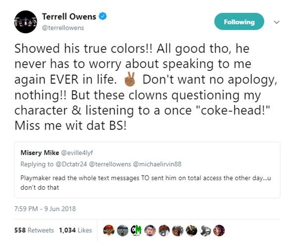 Terrell Owens FIRES SHOTS Michael Irvin + Whitlock Jackson
