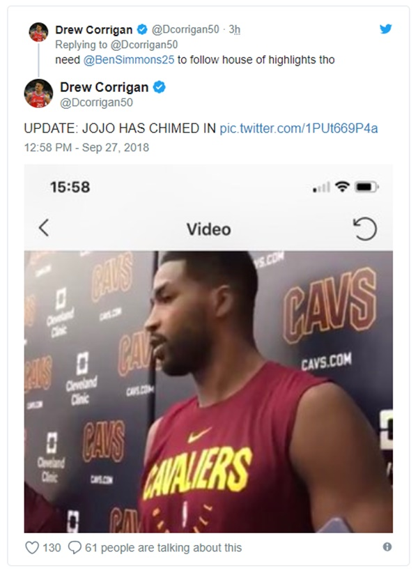 Tristan Thompson Trashes Eastern NBA Teams; Simmons + Morris React