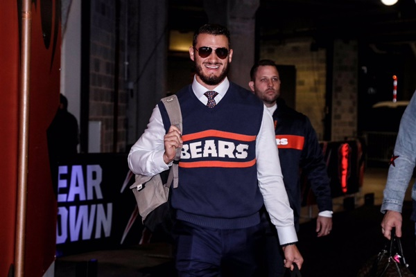 Bears QB Mitchell Trubisky Channels His Inner Mike Ditka