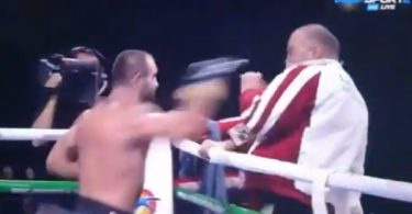 Boxer Levan Shonia Throws Temper Tantrum + Attacks His Trainer