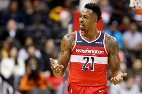 Wizards Dwight Howard OUT for Questionable BUTT Soreness