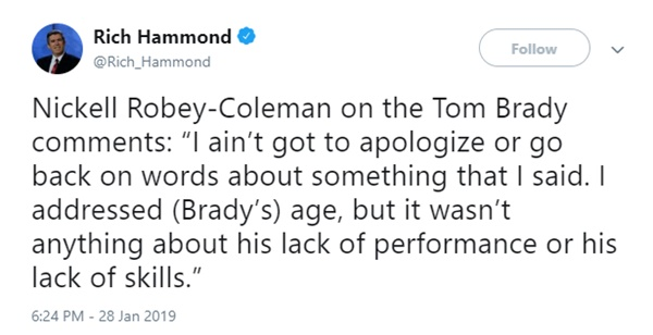 Rams Nickell Robey-Coleman Unapologetic for Tom Brady Comments