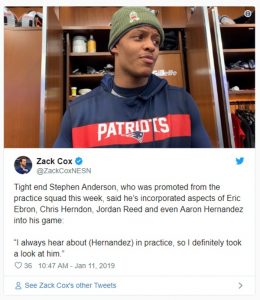 Aaron Hernandez Legacy Lives on With Patriots Says Stephen Anderson