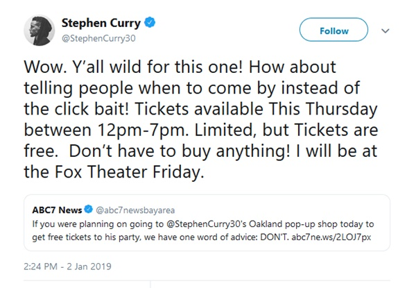 "Stephen Curry Leaves Out Key Details To Get ""Free"" Party TicketsStephen Curry Leaves Out Key Details To Get ""Free"" Party Tickets"